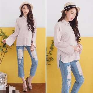 blouse/kemeja stripe
