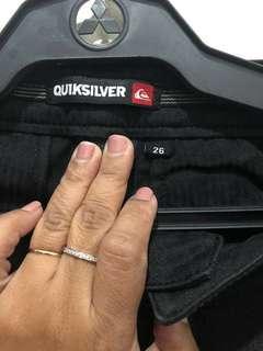 Quiksilver Black #2 size 26