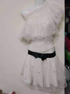 珍珠白小妖精兩件套