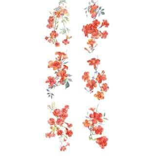回夢組古風紙膠帶凌霄花牡丹小簇海棠2個循環紙膠帶分裝