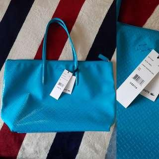 Authentic Lacoste Glossy Tote Bag Repriced