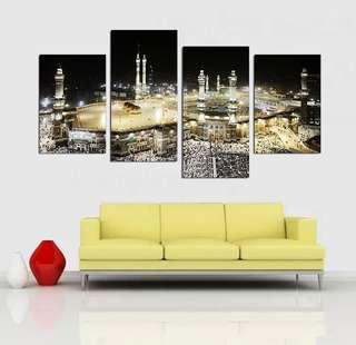 In stock - Islamic haji mecca canvas painting
