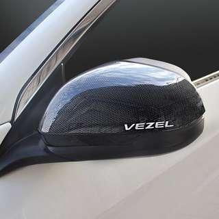 Door Side Rearview Mirror Cover Carbon Fiber Print For Honda Vezel HR-V 2016