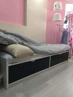IKEA BRIMNES Day-bed frame (mattress not included)