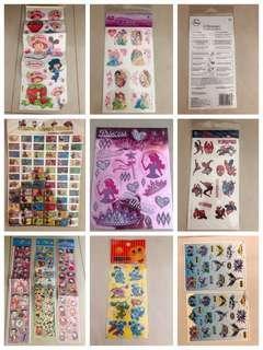 Strawberry shortcake sticker, Batman,tattoo spider man,children reward sticker, hello kitty,Mickey mouse,princess