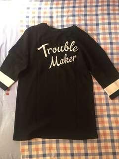 h&m trouble maker long shirt