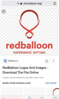 $120 red ballon voucher - Save $15