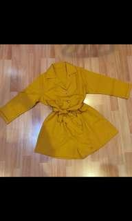 Yellow short jumpsuit