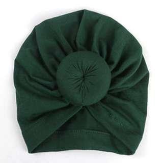 Style Baby Turban Donut - Dark Green
