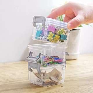三層 迷你收納盒 可放萬字夾 儲存盒