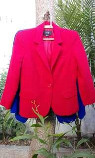 Two forever 21 blazers small on tag red and blue excellent