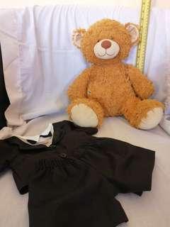 Build a bear teddy bear with 1 set of clothes
