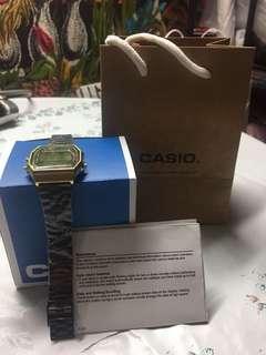 Casio Black Gold Retro Watch