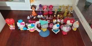 McDonald's toys, Kinder toys etc