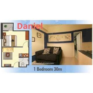 JUAL murah, apartemen Teluk Intan, 1 Br hanya 340 jt