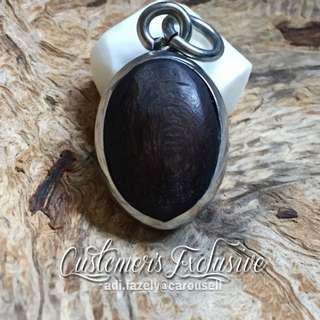 Customer's: Fossilised Coconut Sealed in Teras Betik (Struck-by-Meteorite), Covered with Tempurung Buta