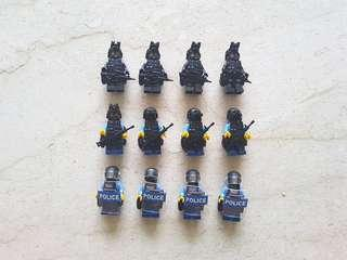 Lego custom police Minifigures