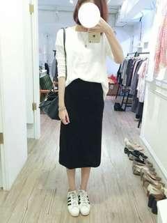 🚚 ingrid開衩黑色針織長裙
