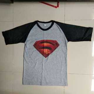 Grey superman t-shirt