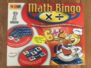 Math Bingo ✖️➗在遊戲中學習