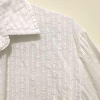 🚚 蕾絲碎花白色襯衫長袖上衣#半價衣服市集
