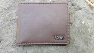Vans man-made leather wallet brown