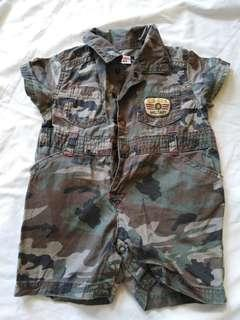 Army baby jumpsuit