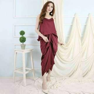 dress Stefani dress pesta polos dress kondangan kaftan dress simple
