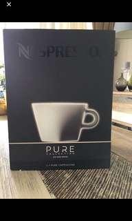 Nespresso pure cappuccino cups