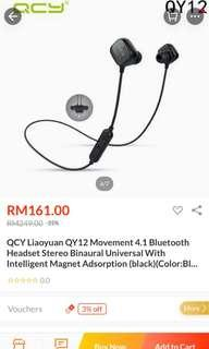 QCY Wireless Bluetooth Headsets (NEW)