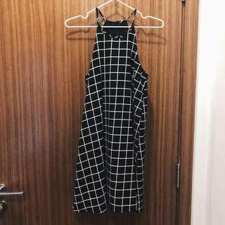 Supergurl Checkered Fuss Free Swing Dress