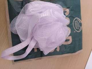 全新淺紫body shop浴球,包紙袋