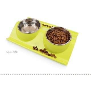 {In Stock} Pet Dining Sets/ Pet Bowls (Blue, Green, Pink)