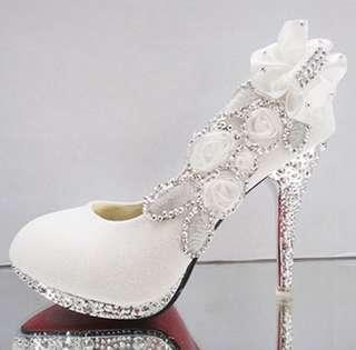 Heels wedding white