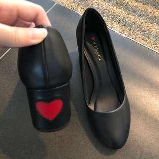 Vincci Heart Shape Low Heels Shoes