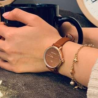 韓國小姐姐氣質皮革錶 現貨
