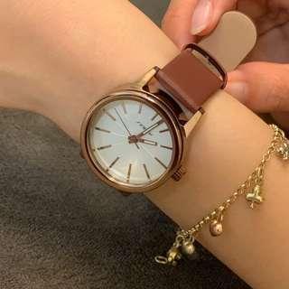 韓國復古簡約小皮錶