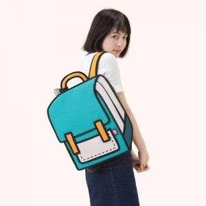 🚚 Jumpfrompaper 台灣品牌設計師 土耳其藍 後背包 硬挺 2D 設計感
