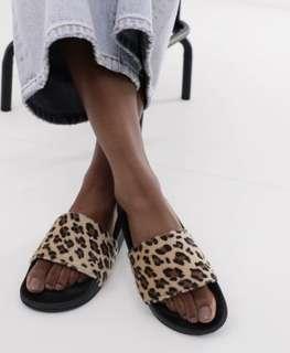 Leopard print slides