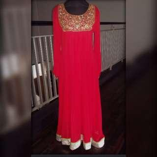 Red party dress (indian style)