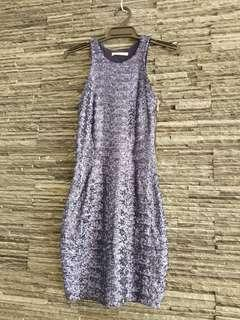 Nicholas blue sequin mini dress size 8