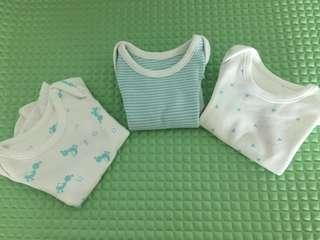 M&S Newborn bodysuits and mothercare hat