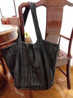 Japan handmade genuine leather tote bag