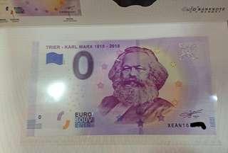 Karl Marx 0 Euro Bill