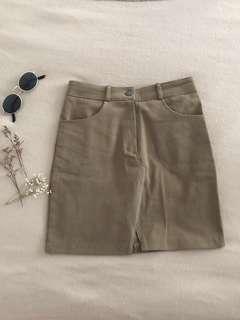 🚚 Denim A line skirt in brown