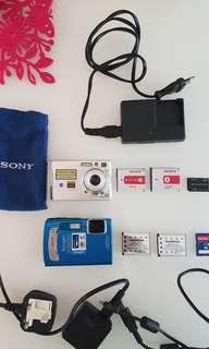 Sony and olympus cameras