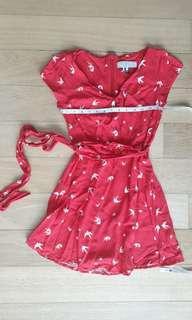 Billie & blossom sparrow red short dress