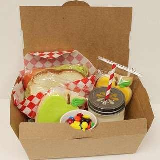 Brown paper lunch box (600 pcs)