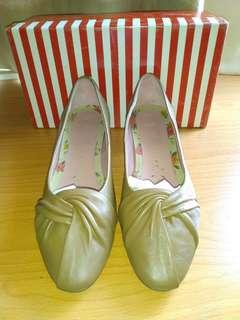 🚚 AS1.5吋褐色包鞋娃娃鞋古著