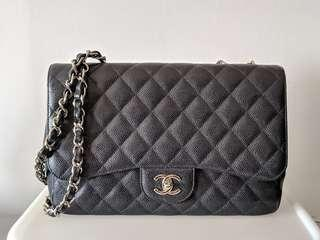 77ae6bd375c Chanel jumbo caviar classic flap black with silver hardware